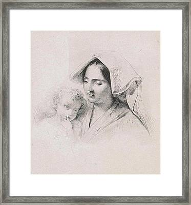 Woman With A Child, Lodewijk Anthony Vintcent Framed Print by Lodewijk Anthony Vintcent