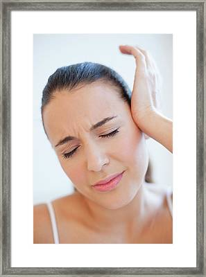 Woman With Headache Framed Print