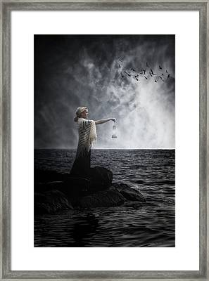 Woman With Lantern Framed Print by Joana Kruse