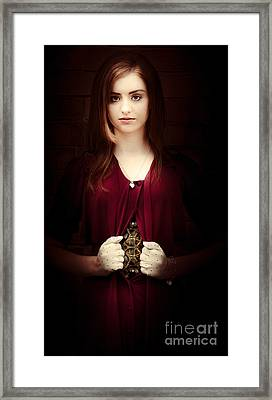 Woman With Mechanical Body Framed Print by Jorgo Photography - Wall Art Gallery