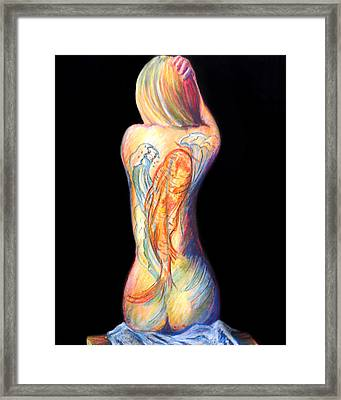 The Koi Tattoo Framed Print