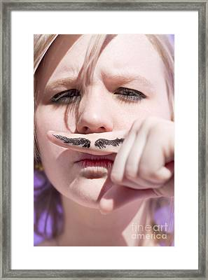 Woman Working Undercover Framed Print