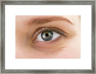 Woman's Eye Framed Print