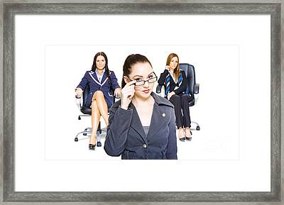 Women Achievers In Corporate Business Framed Print