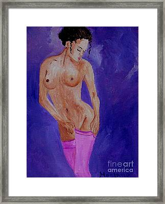 Women Nude Framed Print by Inna Montano