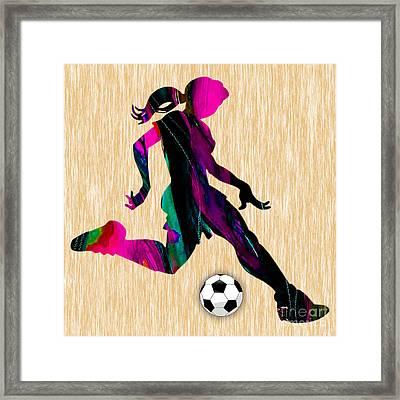 Women's Soccer Framed Print