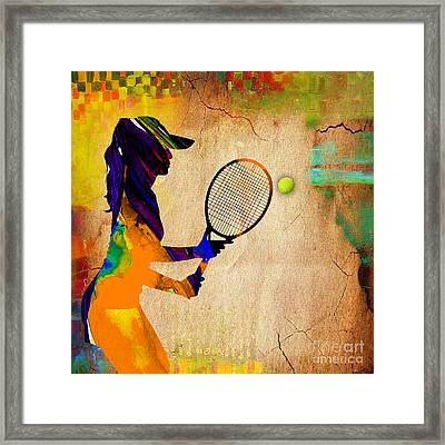 Womens Tennis Framed Print