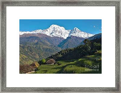 Wonderful Views Of Holy Annapurna South Photo By Artmif Framed Print