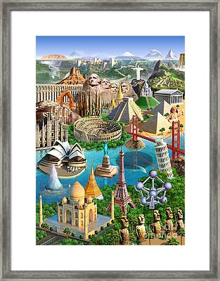 Wonders Of The World Framed Print by Adrian Chesterman
