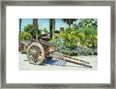 Wood Hand Cart Framed Print
