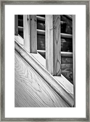 Wooden Bannister Framed Print