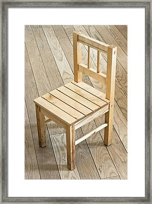 Wooden Chair Framed Print by Tom Gowanlock