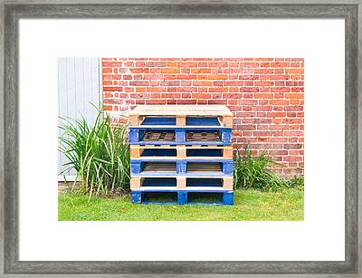 Wooden Pallets Framed Print