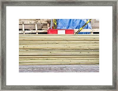 Wooden Planks Framed Print by Tom Gowanlock
