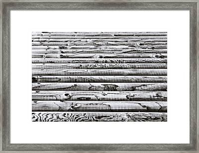 Wooden Poles Framed Print by Tom Gowanlock