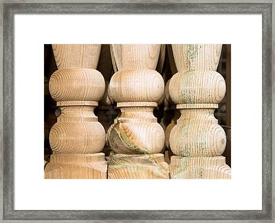 Wooden Posts Framed Print by Tom Gowanlock