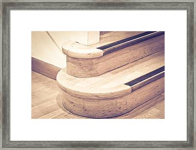 Wooden Stairs Framed Print by Tom Gowanlock