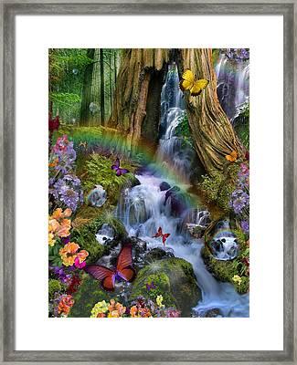 Woodland Forest Fairyland Framed Print by Alixandra Mullins