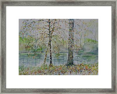 Framed Print featuring the painting Woodmans Pond by Alfred Motzer