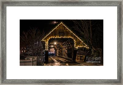 Woodstock Middle Bridge. Framed Print by New England Photography
