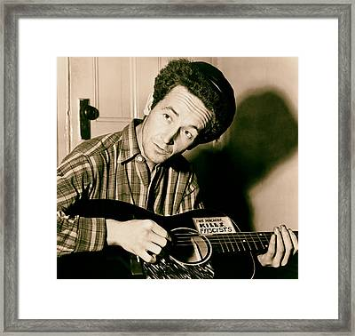 Woody Guthrie 1943 Framed Print