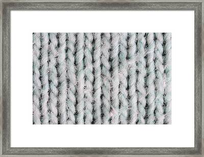 Wool Material Framed Print by Tom Gowanlock