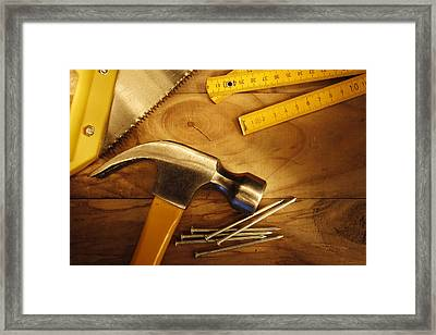 Work Tools Framed Print by Les Cunliffe