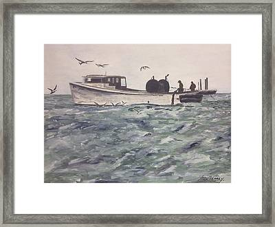 Workboat Framed Print by Stan Tenney