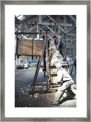 Workers In Patagonia Framed Print by Peter J. Raymond