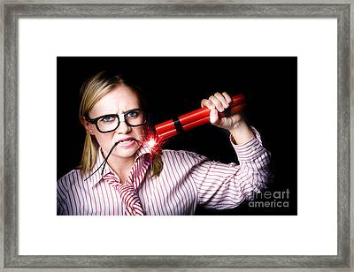 Workers Union Representative Taking Strike Action Framed Print by Jorgo Photography - Wall Art Gallery