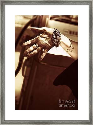 Working Hands Framed Print by Jorgo Photography - Wall Art Gallery