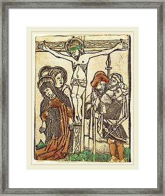 Workshop Of Master Of The Borders With The Four Fathers Framed Print