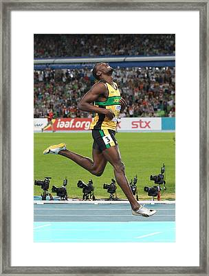 World Athletics Championships, Korea Framed Print by Science Photo Library
