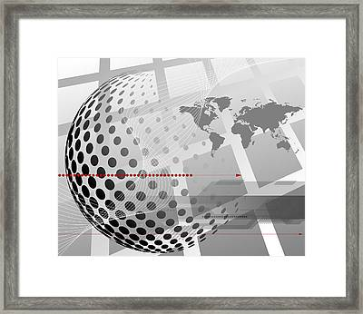 World Map Abstraction Framed Print by Adrian Grosu