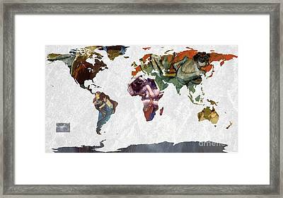 World Map  Degas 1 Framed Print by John Clark