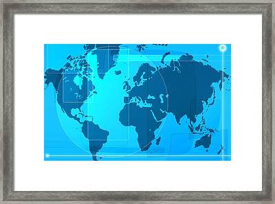 World Map Framed Print by Modern Art Prints