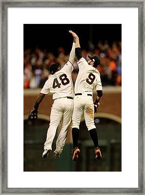 World Series - Kansas City Royals V San Framed Print by Elsa