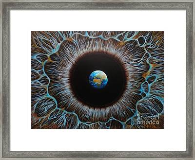 World Vision Framed Print by Paula Ludovino