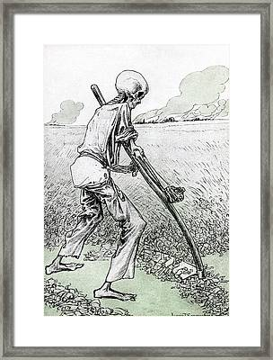 World War I Cartoon Framed Print