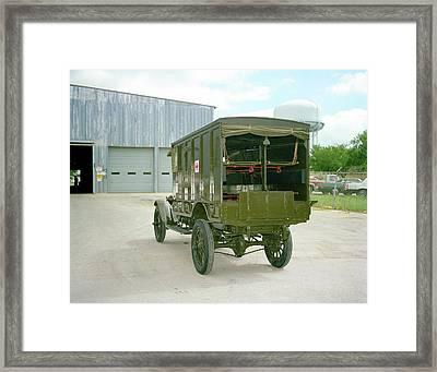 World War I Field Ambulance Framed Print by Us Army