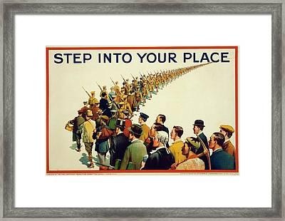 World War I Recruitment Poster Framed Print