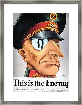 World War II Poster, 1942 Framed Print by Granger