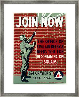 World War II Poster, C1943 Framed Print by Granger