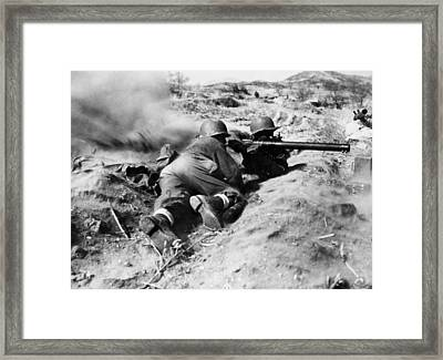 World War II: U.s. Troops Framed Print