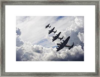 World War Two British Vintage Flight Formation Framed Print by Matthew Gibson