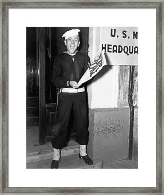 World War Two Ends Framed Print by Underwood Archives