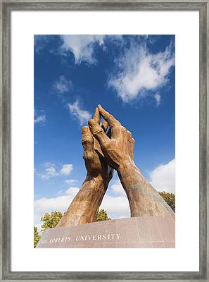 Worlds Largest Praying Hands Sculpture Framed Print by Panoramic Images
