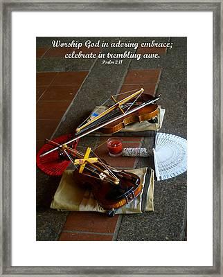 Worship Framed Print by Roseann Errigo