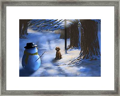 Would You Like To Play? Framed Print by Veronica Minozzi