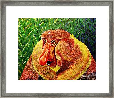 Framed Print featuring the painting Wow by Viktor Lazarev